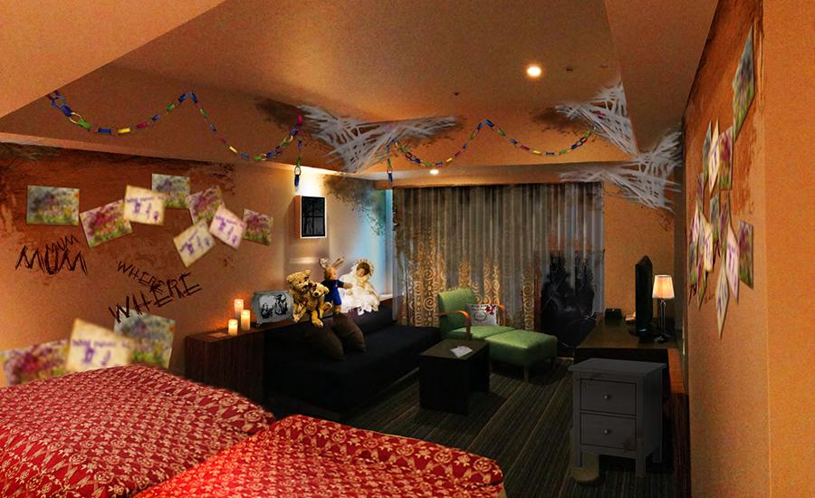 部屋には謎の絵や文字も。※画像はイメージ