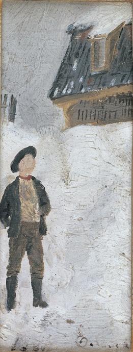 エドヴァルド・ムンク《雪景色の中の少年》1881年 18歳