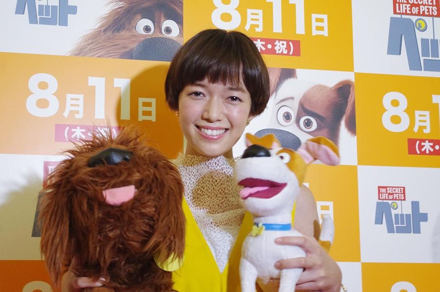 映画『ペット』の特別試写会(1日・大阪南港)に登場した佐藤栞里