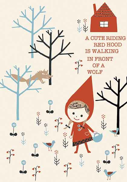 Little Red Riding Hood Design by © Shinzi Katoh™ Licensed by Copyrights Asia