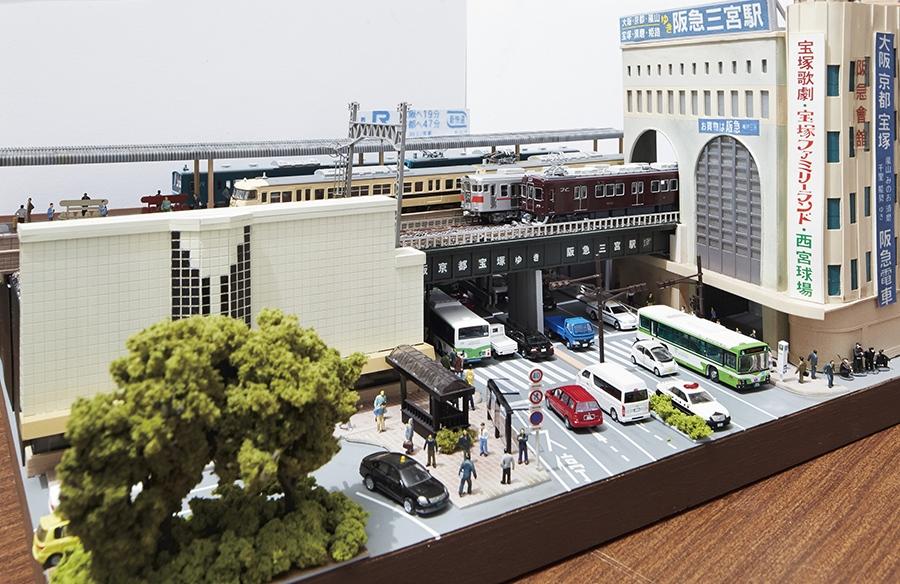 1990年頃の神戸三宮駅ビルのジオラマ