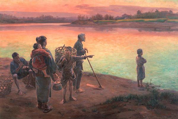 和田英作《渡頭の夕暮》1897(明治30)年 東京藝術大学蔵