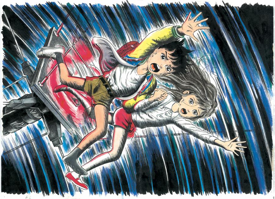 原作より、東京タワーの先から飛び降りる衝撃の場面 Ⓒ Kazuo Umezz, Shogakukan