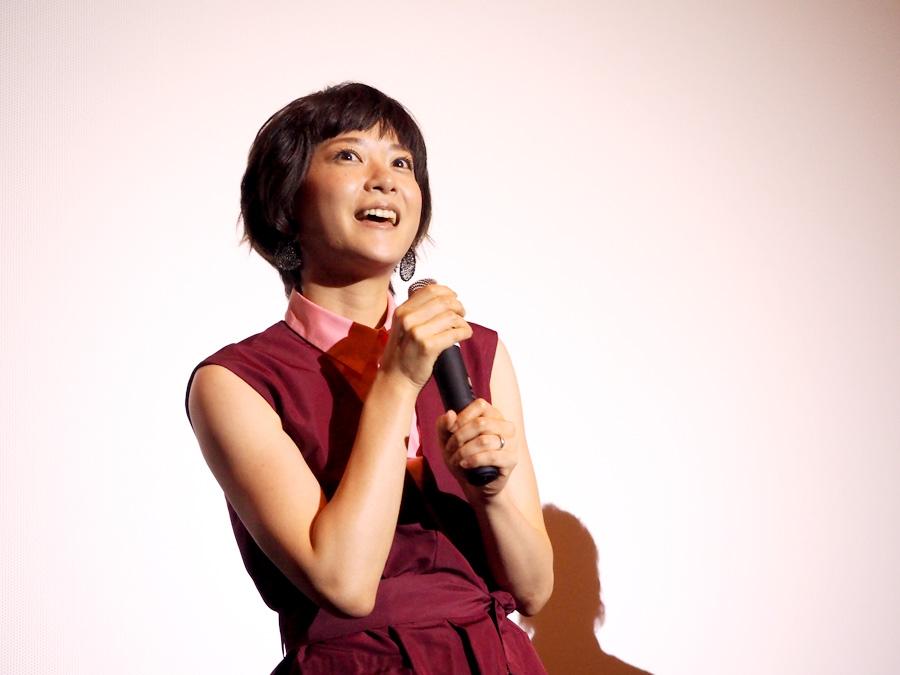 大阪での先行上映会で舞台挨拶をおこなった女優・上野樹里(23日・梅田ブルク7)