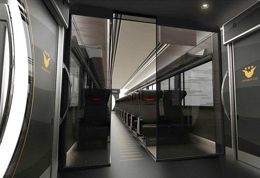 平成29年度上期導入予定の「プレミアムカー」、エントランス部のデザインイメージ