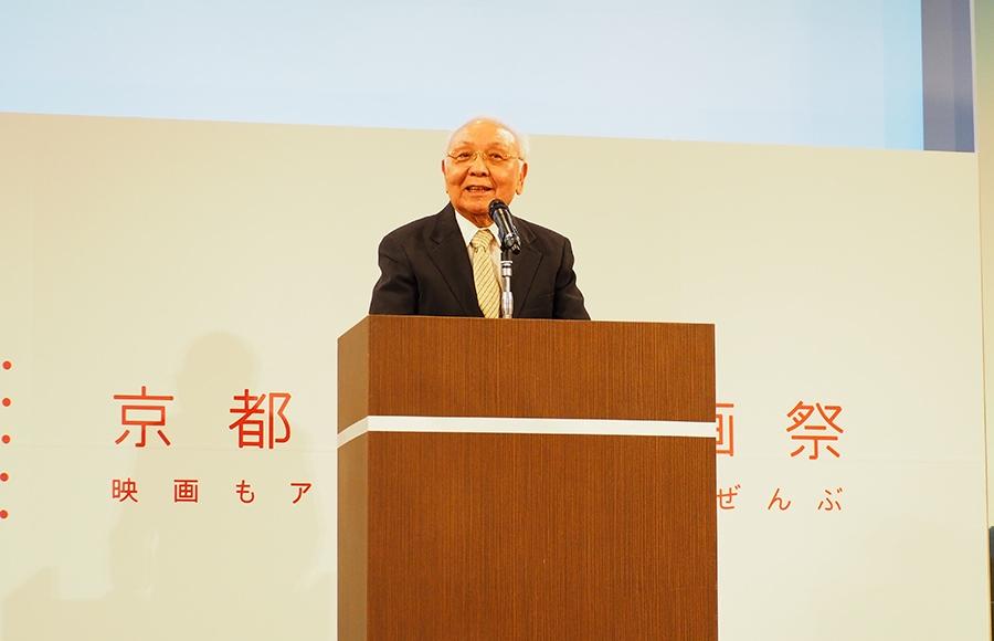 「京都は映画都市であり続けて欲しい」と語った中島貞夫監督