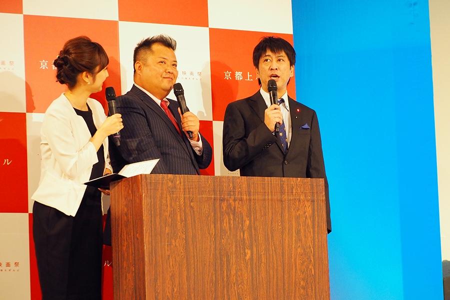 『京都国際映画祭2016』のプログラム発表会見でMCをつとめたブラックマヨネーズ