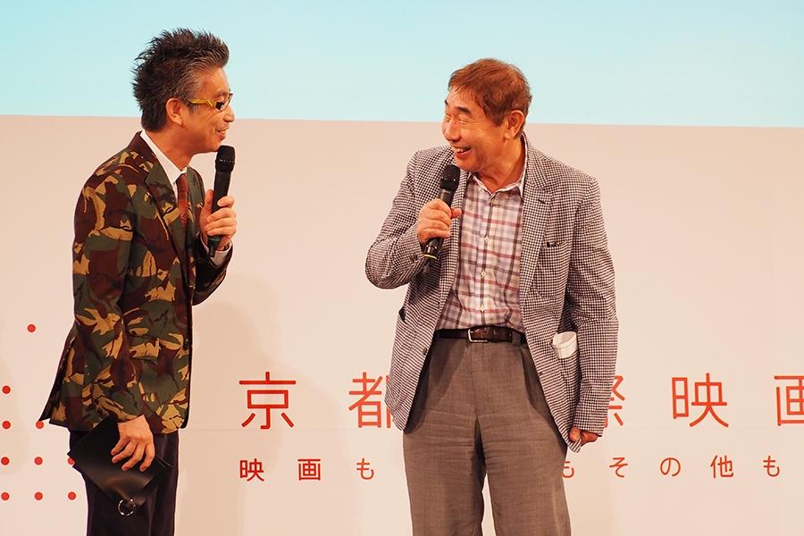 『京都国際映画祭2016』のプログラム発表会見に登場したおかけんた(左)と蛭子能収