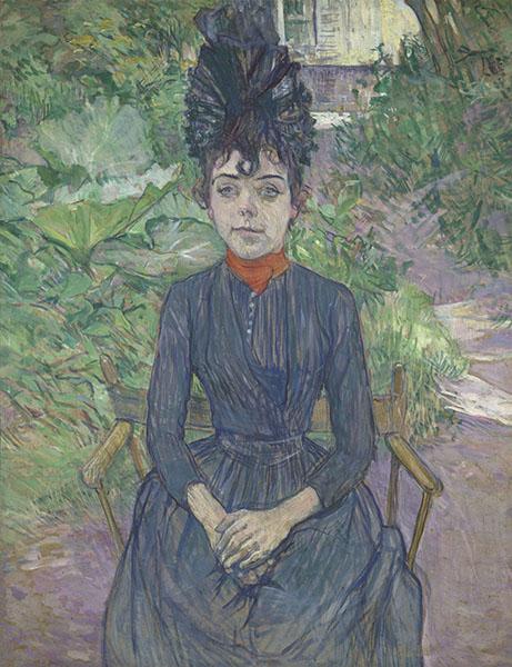 トゥールーズ=ロートレック《庭に座る女》 1891年 オルセー美術館蔵 © RMN-Grand Palais (musée d'Orsay) / Hervé Lewandowski / distributed by AMF