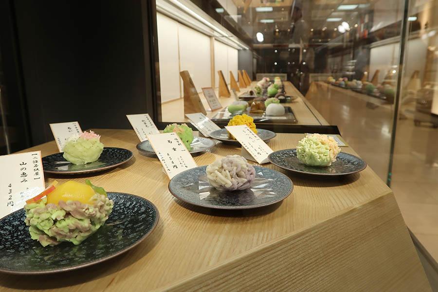 「季節生菓子コーナー」は、生菓子のセレクトショップという珍しい形態