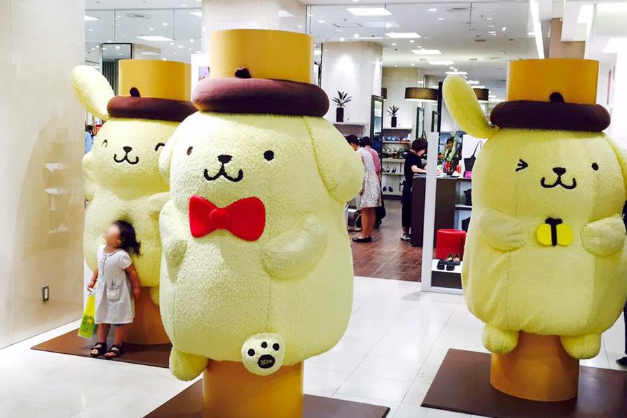 大丸京都店1階に登場している「だきつきプリン」