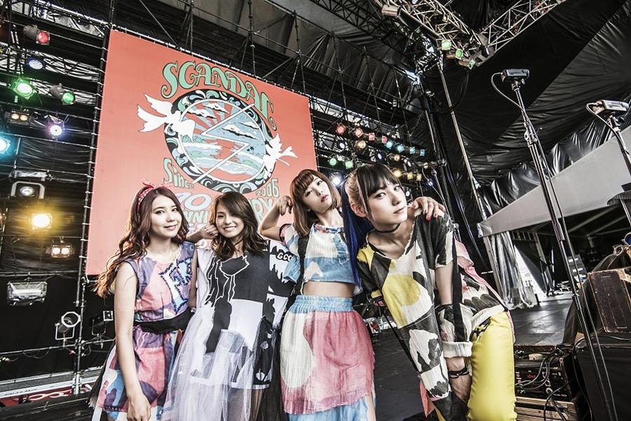 地元・大阪のUSJでライブを行う4人組ロックバンド・SCANDAL