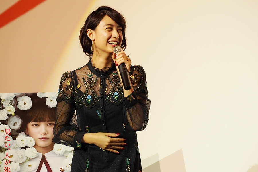 大阪での先行上映会で舞台挨拶をおこなった女優・山本美月(16日・梅田ブルク7)