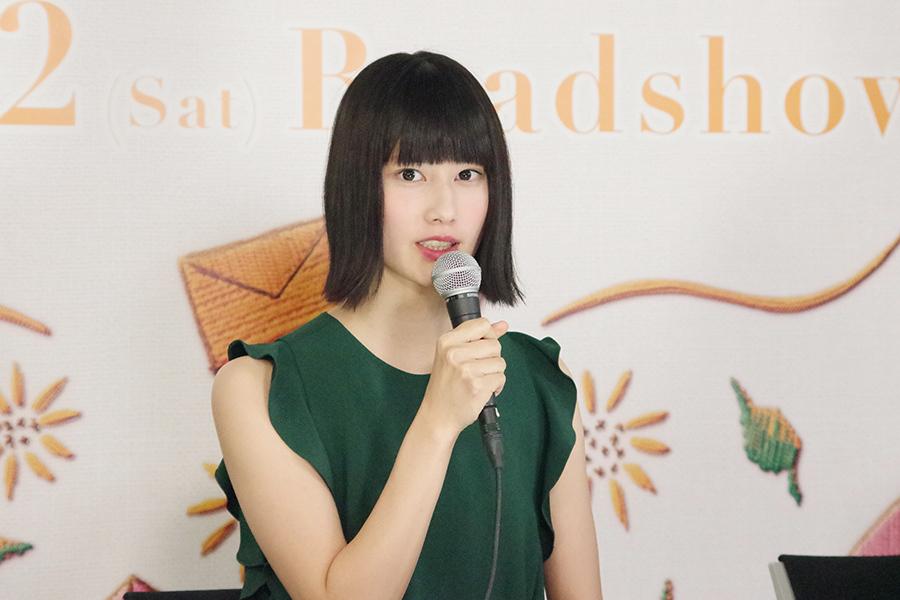 映画『バースデーカード』の会見に出席した、女優の橋本愛(7日・朝日放送)