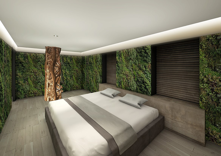 プラントハンター西畠清順が初めてプロデュースした客室のイメージ。森林浴気分を味わえそうだ