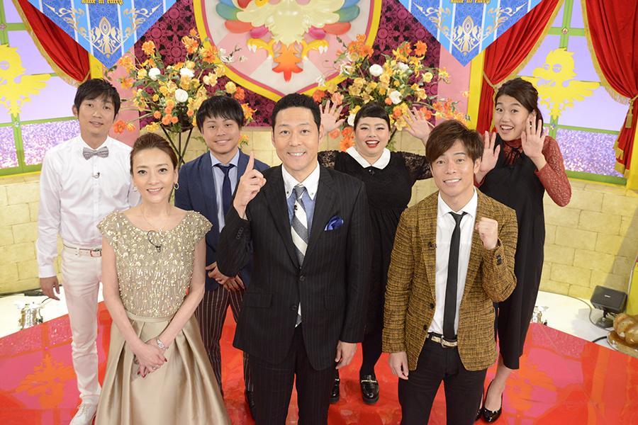 バラエティ特番『勝手にエントリー!』のMCをつとめた東野幸治(中央)