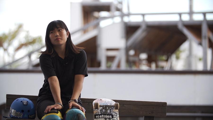 重岡が担当する中村貴咲。6歳からスケートボードをはじめ、8歳で大人が出演する大会に出場し、初優勝を獲得