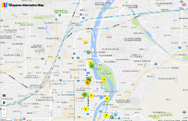 サイトで閲覧できるマップでは、各ポイントをクリックすると、詳細がアップされる。