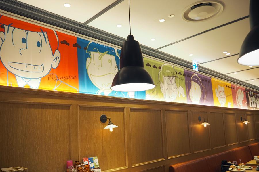 店内も、おそ松さんの装飾は控えめなので、普段のカフェ遣いとしてもOK