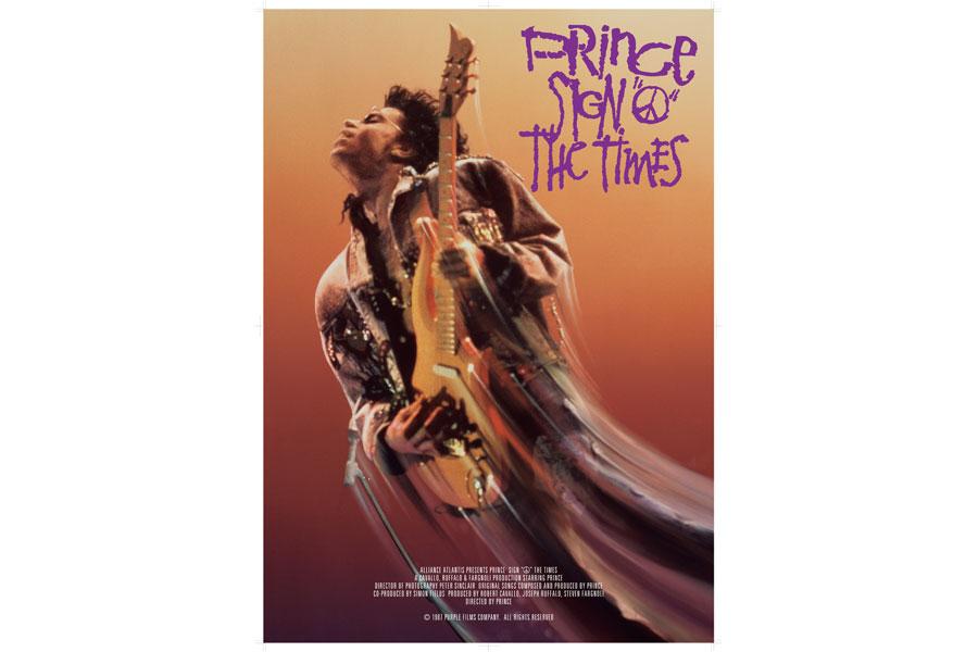 映画『サイン・オブ・ザ・タイムズ』ポスターより (C)1987 PURPLE FILMS COMPANY. ALL RIGHTS RESERVED
