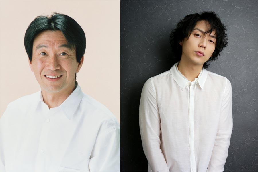 来春再び舞台『それいゆ』に立つ、佐戸井けん太(左)と施鐘泰(JONTE)