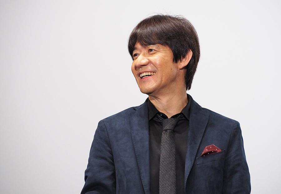 自身の監督作の舞台挨拶に登場したウッチャンナンチャン・内村光良(14日・大阪市内)