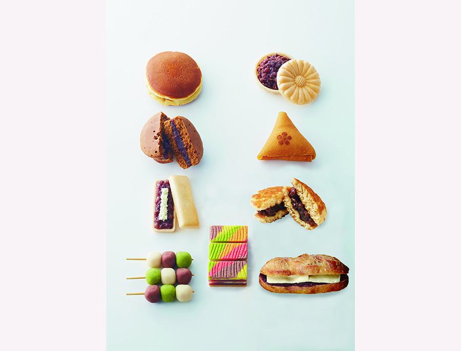 昔ながらの和菓子から、革新的なものまで。あんパンは人気ベーカリーより日替わりで登場