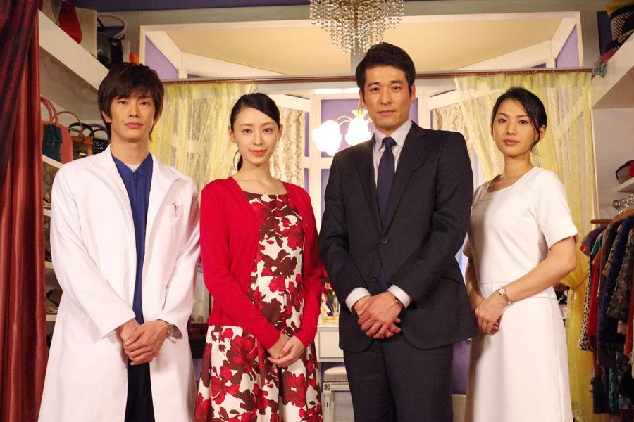 NHKドラマ10「コピーフェイス」の出演者。左から玉置玲央、栗山千明、佐藤隆太、芦名星