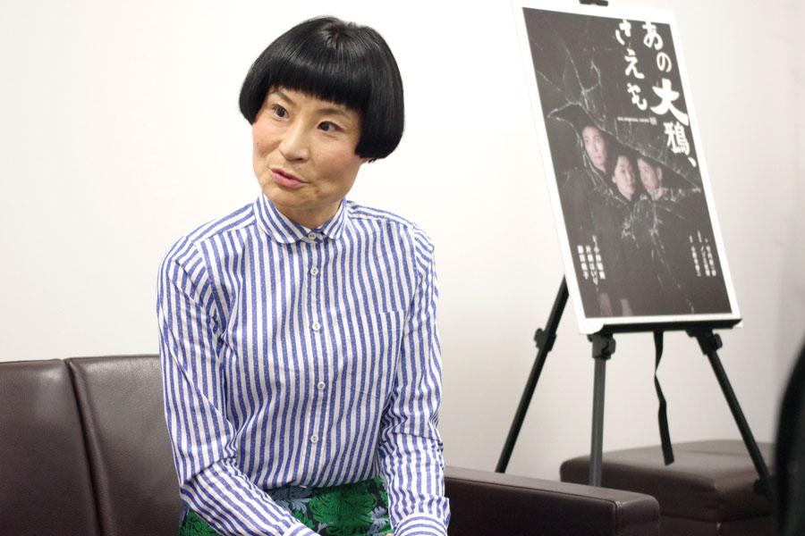 「ジャズのセッションのような舞台。子どもにも楽しんでいただけると思う」と片桐はいり(28日、大阪市内)
