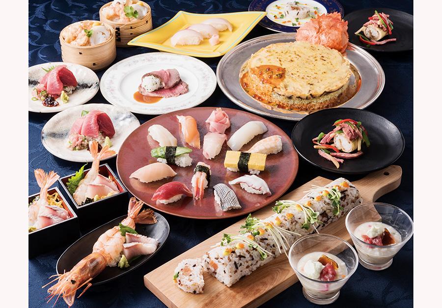 和・洋・中、様々なスタイルの寿司が登場