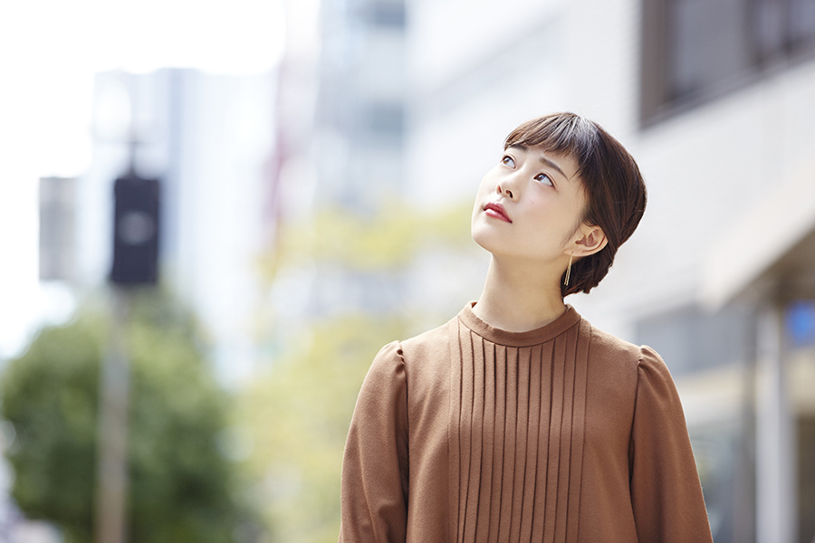 地元・大阪でインタビューに応じた高畑充希