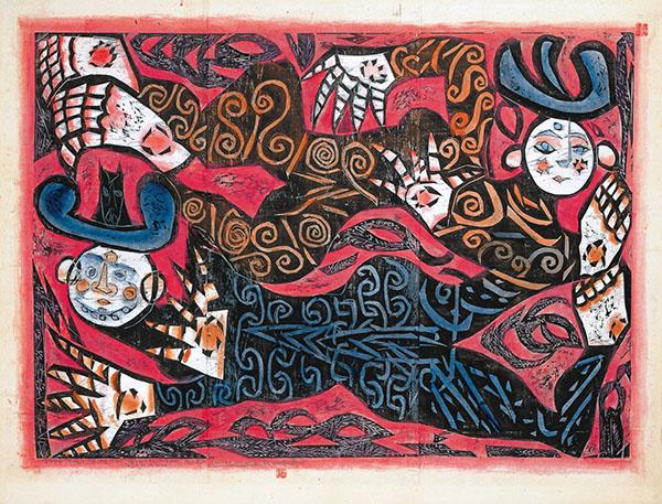 《飛神の柵(御志羅の柵)》 昭和43(1968)年 棟方志功記念館蔵