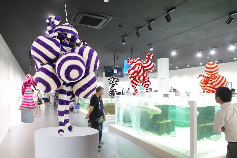現代美術アーティスト・ピュ~ぴる氏の「わざにふれる」での作品展示(イメージ)