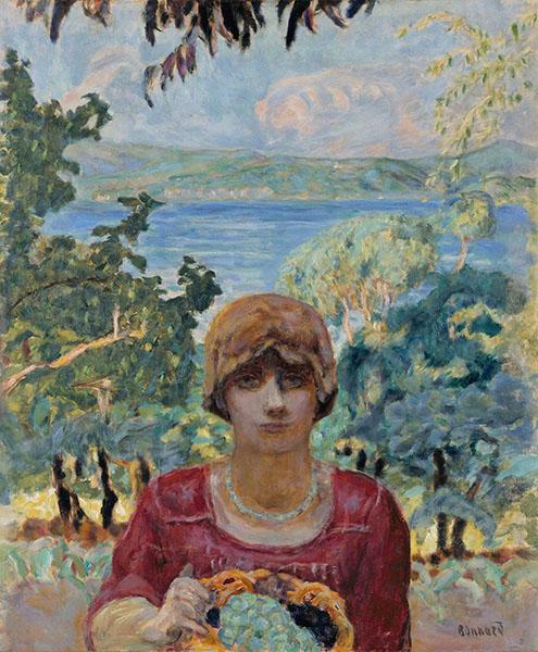 ピエール・ボナール《葡萄を持つ女》1911–12年 宮崎県立美術館蔵