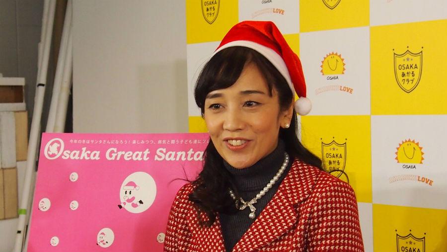 「子どもの頃に何かの役に立つという喜びを知るのは有意義」と語る西田ひかる(3日、大阪市内)