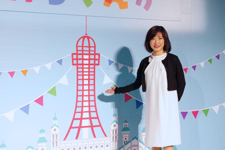 初代通天閣がデザインされた番組ビジュアル。「落語や漫才を中心に描くわけでないが、日本中に愛される東京的な感覚を含めたドラマを作りたい」という吉田