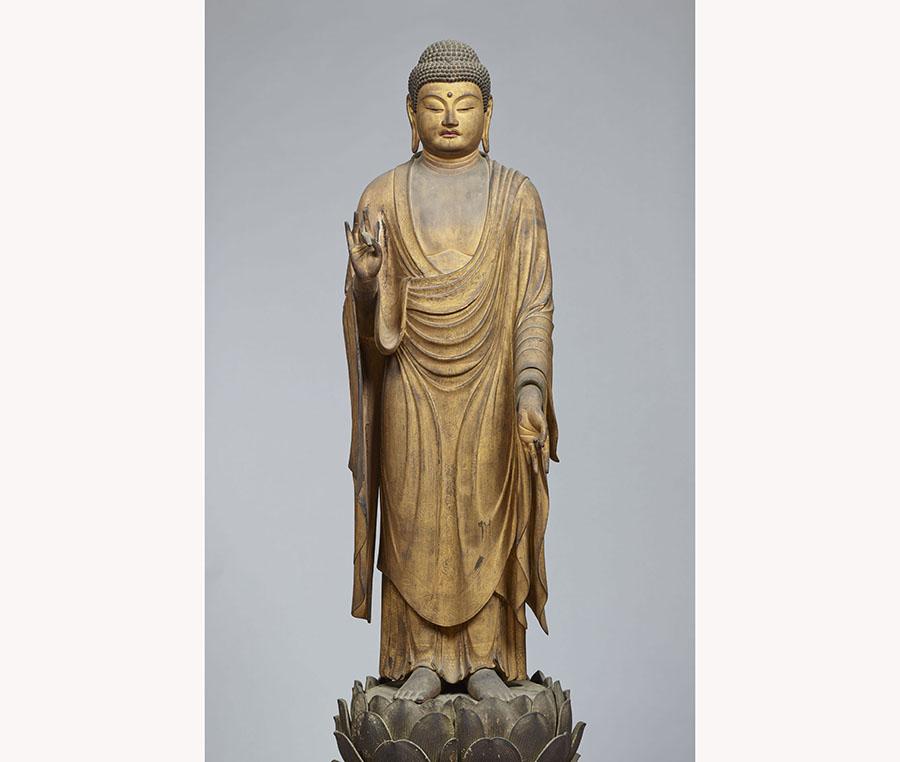 重要文化財 阿弥陀如来立像 快慶作 京都・遣迎院