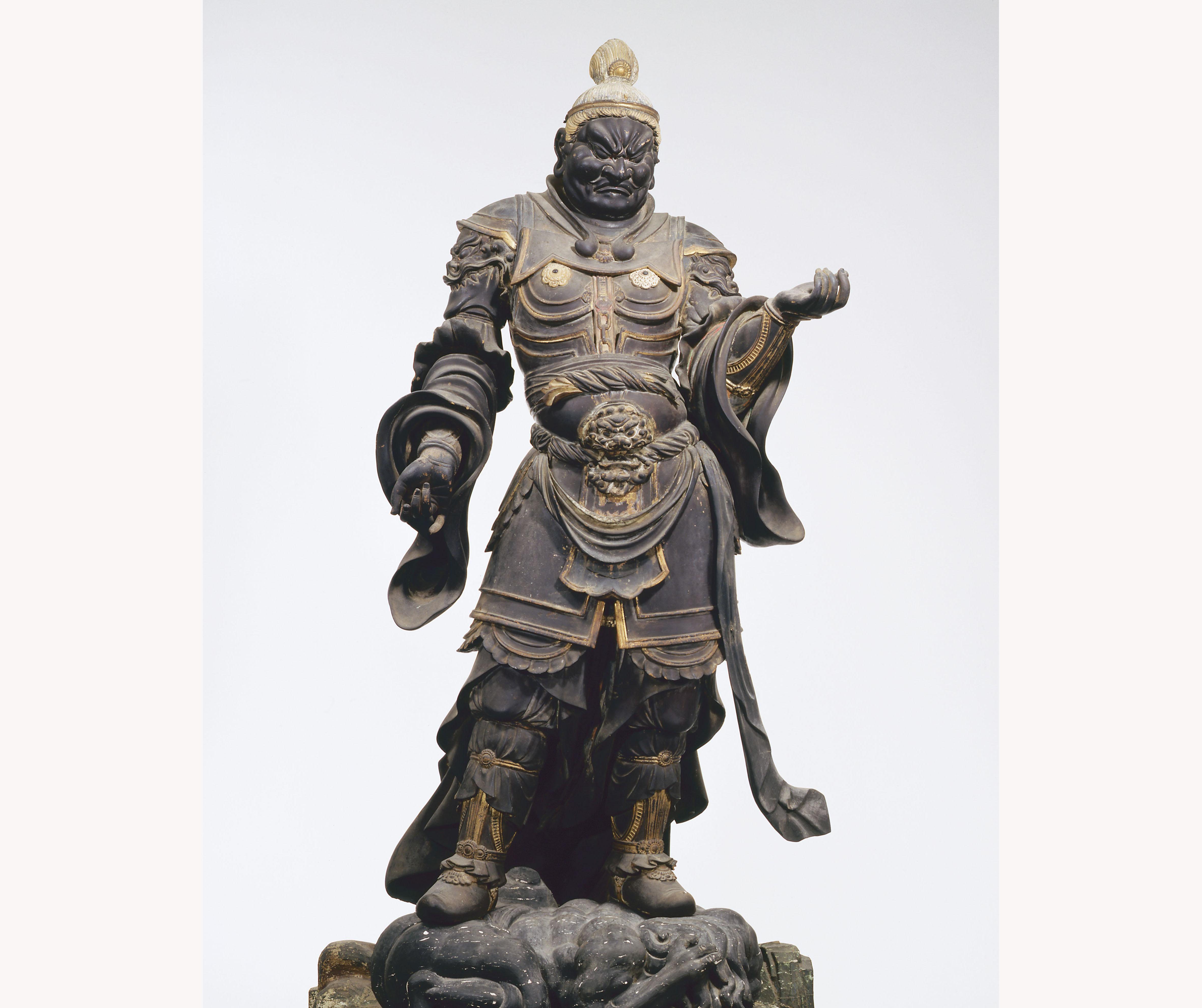 重要文化財 四天王立像 広目天 快慶作 和歌山・金剛峯寺
