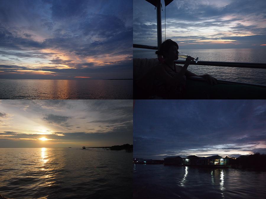 東南アジア最大の湖・トンレサップ湖から眺めるサンセットクルーズ
