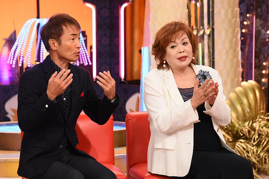番組メインパーソナリティの上沼恵美子(右)と、大平サブロー