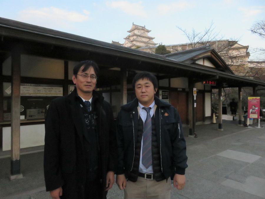 イベント担当者の大山嘉史さん(左)と中村隆寛さん。姫路の滞在型観光推進に向けて模索中