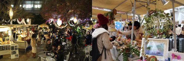 昼も夜も、フランスの本場のマルシェの雰囲気を味わえる。12月17日から、「アンスティチュ・フランセ関西」(京都市左京区)で
