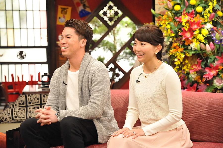 『新春大売り出し!さんまのまんま』にゲスト出演した、大リーグ・ドジャースの前田健太投手と妻・早穂さん