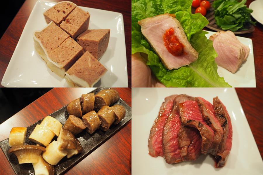 パテから豚、牛、馬・・・と赤身肉を堪能できる