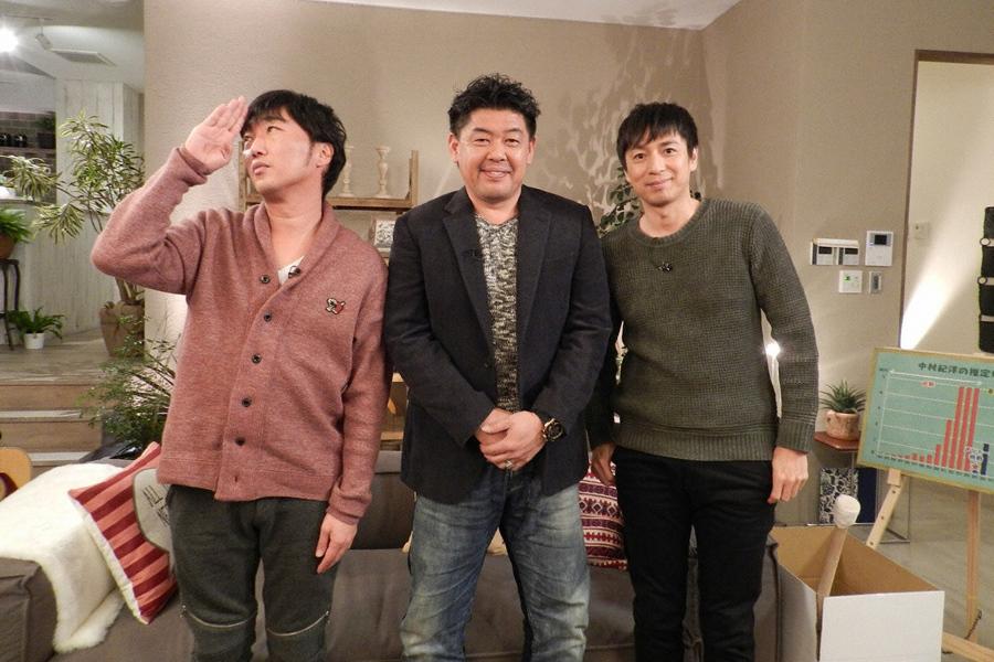知られざる中村紀洋(中央)の男気エピソードの数々に、小沢(左)も「こんなに感動するとは!」と涙目で感激 (C)ABC