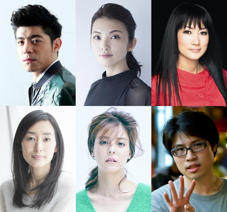 写真上、左からワン・ポーチエ、田中麗奈、余貴美子。写真下、左から木村多江、藤井美菜、ジェイ・チャン監督