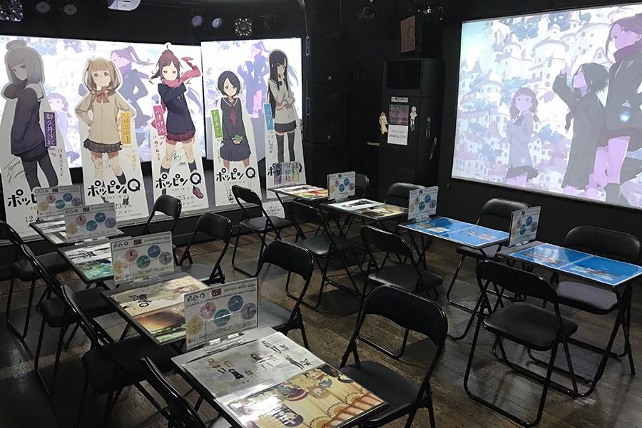 期間限定でオープンした長編劇場アニメ『ポッピンQ』のコラボカフェ(大阪市中央区・上方ビルB1)