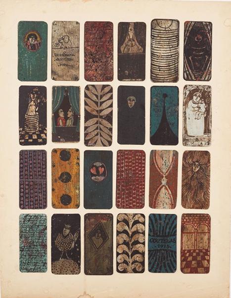 ロベール・クートラス《僕の夜のコンポジション 24-b》1973年 油彩、紙 各12×6cm 個人蔵 撮影:片村文人