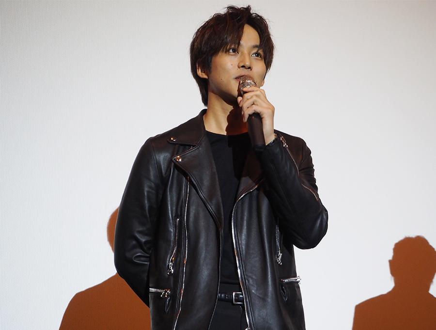 大阪で舞台挨拶をおこなった俳優・松坂桃李(12日・梅田ブルク7)