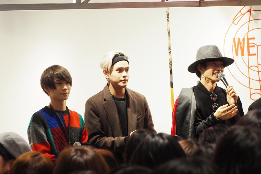 (左から)イベントに登場したXOXの木津つばさ、バトシン、志村禎雄